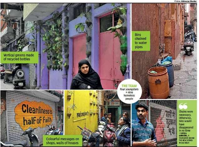 युवा पेशेवरों के एक समूह ने पुरानी दिल्ली में स्वच्छता से लाया परिवर्तन 7