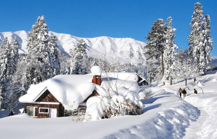 कश्मीर में भारी बर्फ़बारी, राज्य में बिजली की कमी! 9