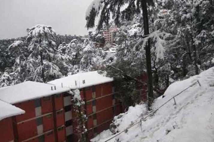 कश्मीर में बर्फ़बारी से ठंड बढ़ी, शीतलहर जारी! 8