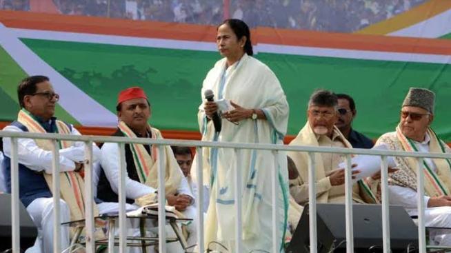ममता बनर्जी की रैली में विपक्षी नेताओं के शामिल होने से बीजेपी में खलबली! 8