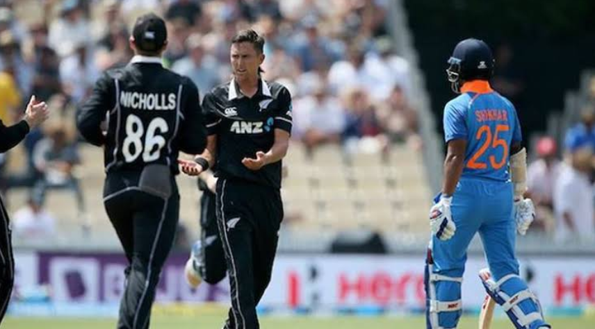 न्यूजीलैंड से चौथा वनडे: सिर्फ़ 39 रनों पर भारत के छह विकेट गिरे 12