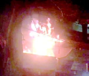 मुअज़्ज़म जाहि मार्किट के क़रीब हार्डवेयर शाप में लगी आग 1