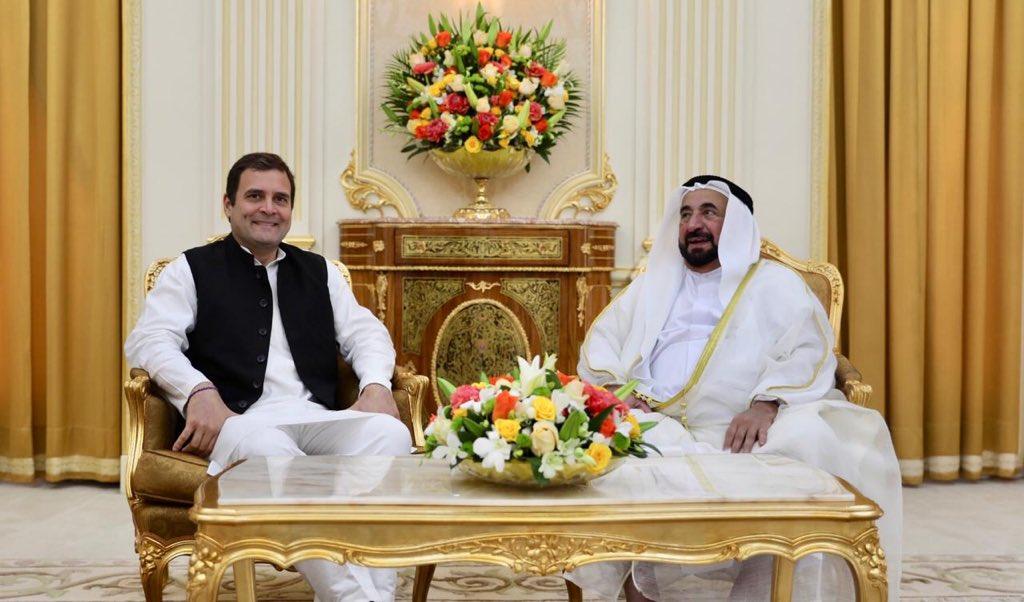 शारजाह के 'सुल्तान' से मिले राहुल गांधी, कहा- संबधों को और मजबूत बनाने के लिए साथ काम करना चाहूंगा 7