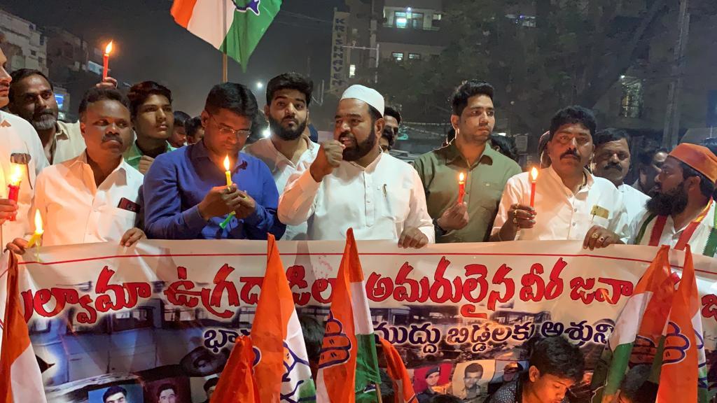 पुलवामा हमला: तेलंगाना में भी मुस्लिमों ने किया प्रदर्शन, दुश्मनों को कड़ा संदेश 1