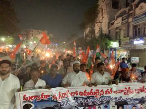 पुलवामा हमला: तेलंगाना में भी मुस्लिमों ने किया प्रदर्शन, दुश्मनों को कड़ा संदेश 14