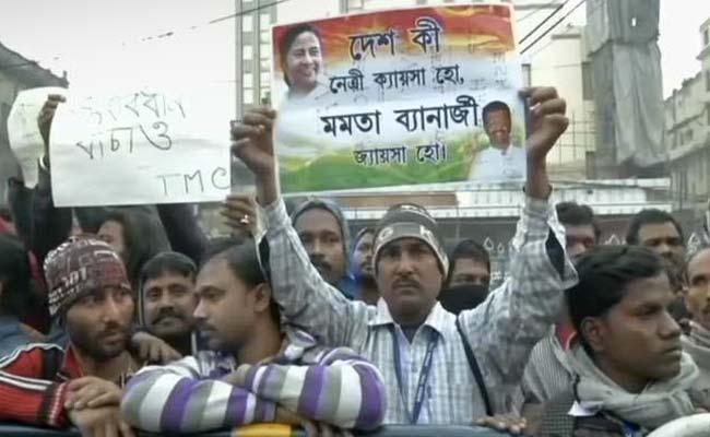 कोलकाता: सीबीआई और मोदी सरकार के खिलाफ़ सड़कों पर TMC कार्यकर्ता उतरे! 5