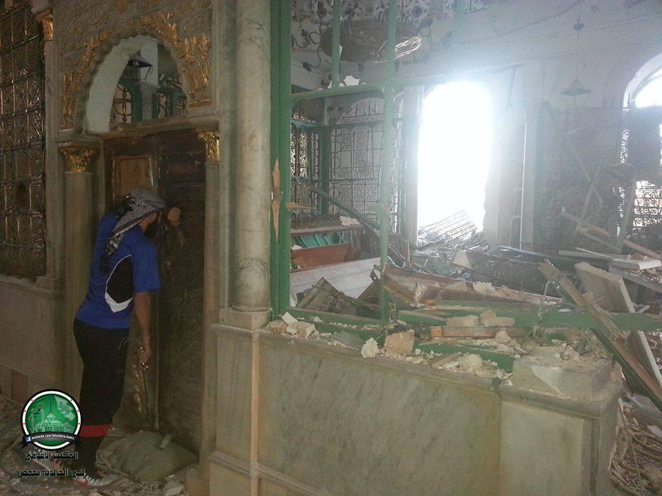 VIDEO : खालिद बिन वलीद की कब्र और मस्जिद जिसे नष्ट कर दिया गया था, जीर्णोद्धार के बाद का दृश्य देखें 3