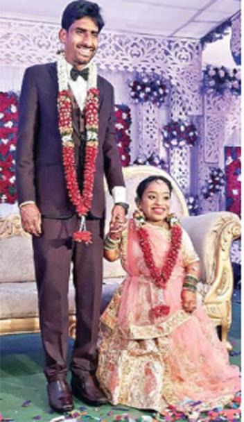 हैदराबाद में 5.4 लड़के की 3.2 लड़की के साथ शादी 1