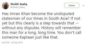दुनिया में हो रही इमरान खान की तारीफ़, देखें, सोशल मीडिया पर महान हस्तियों के कमेंट्स! 5