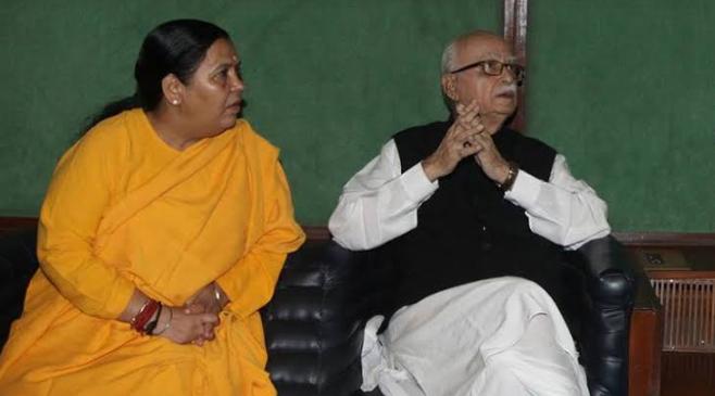 आडवाणी की देन है जो आज बीजेपी सत्ता में है और नरेन्द्र मोदी प्रधानमंत्री बने- उमा भारती 19