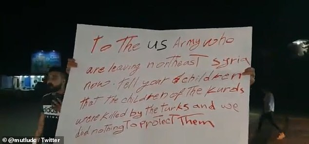 कुर्दों ने अमेरिकी काफिले में पत्थरों और आलू से किया हमला, कहा अमेरिकी चूहों की तरह भाग रहा है 2