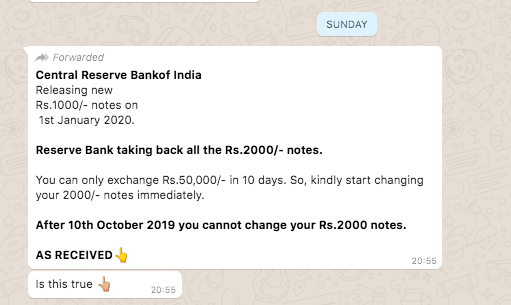 नहीं, RBI 2000 रुपए के नोट बंद नहीं करेगा; गलत संदेश वायरल 1