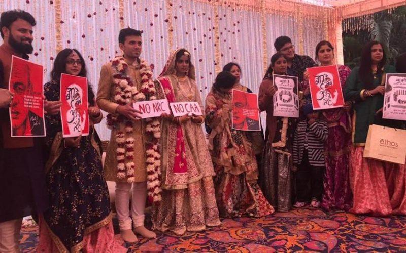नागरिकता कानून- जामिया की छात्रा ने अपनी शादी में इस अंदाज में किया CAA /NRC का विरोध 10