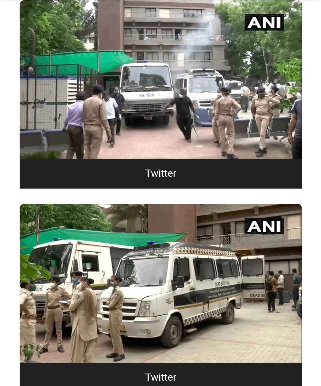अहमदाबाद कोविड अस्पताल में लगी आग, 8 मरीजों की मौत! 1