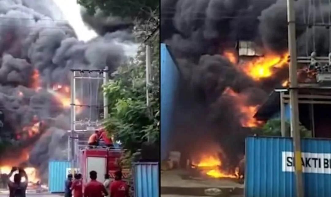 VIDEO: गुजरात के केमिकल फैक्ट्री में लगी भीषण आग! 14