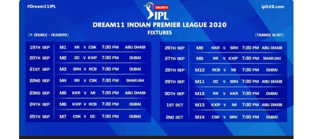 IPL-13 का शेड्यूल देखने के लिए यहां क्लिक करीए! 4