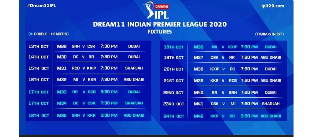 IPL-13 का शेड्यूल देखने के लिए यहां क्लिक करीए! 2