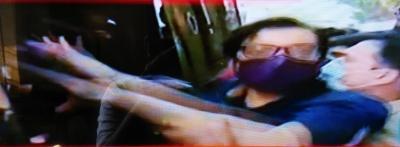 अर्णब के समर्थन में और महाराष्ट्र सरकार के खिलाफ एबीवीपी का प्रदर्शन
