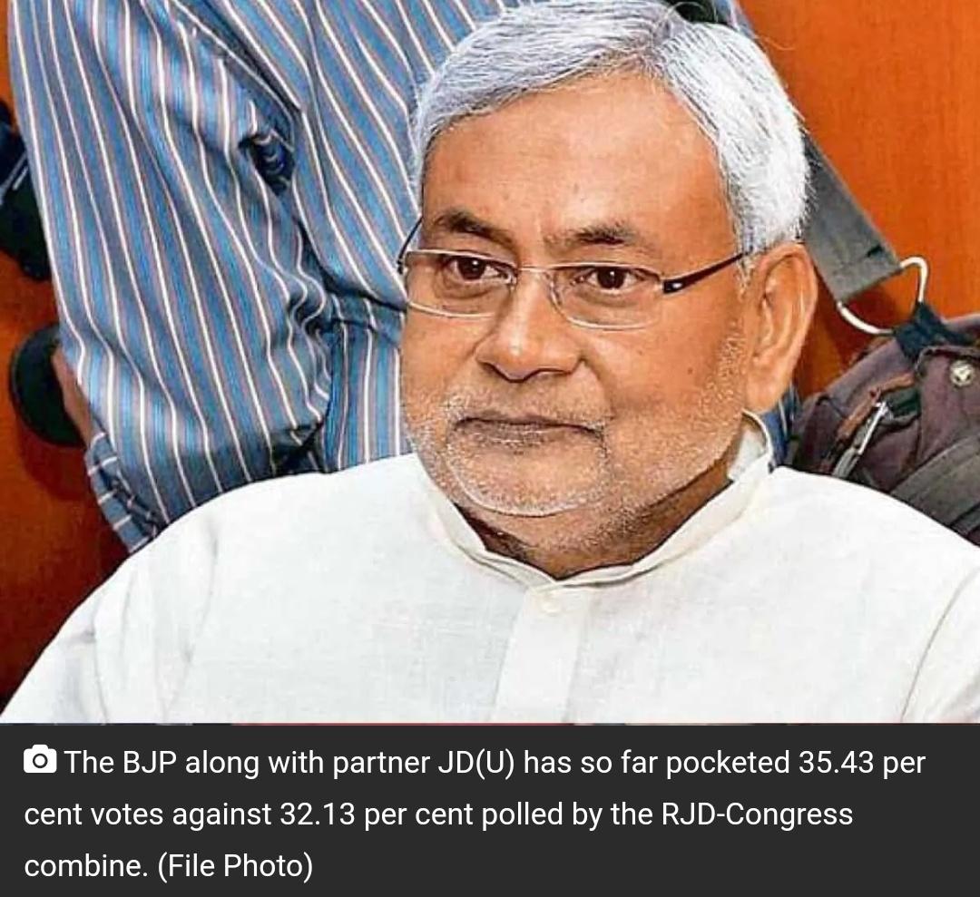 बिहार चुनाव परिणाम: 243 सीटों में लगभग आधे पर NDA को बढ़त! 23