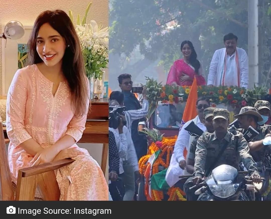 नेहा शर्मा ने बिहार चुनाव में पिता अजीत शर्मा की जीत का जश्न मनाया 16