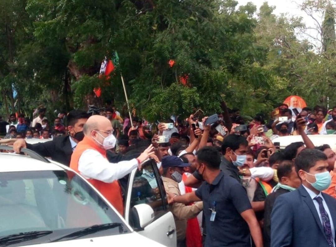 GHMC चुनाव: हैदराबाद पहुंचे अमित शाह! 10