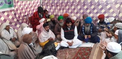 मंत्रियों के साथ किसानों की बैठक से पहले किसान कांग्रेस ने की सर्व धर्म पूजा