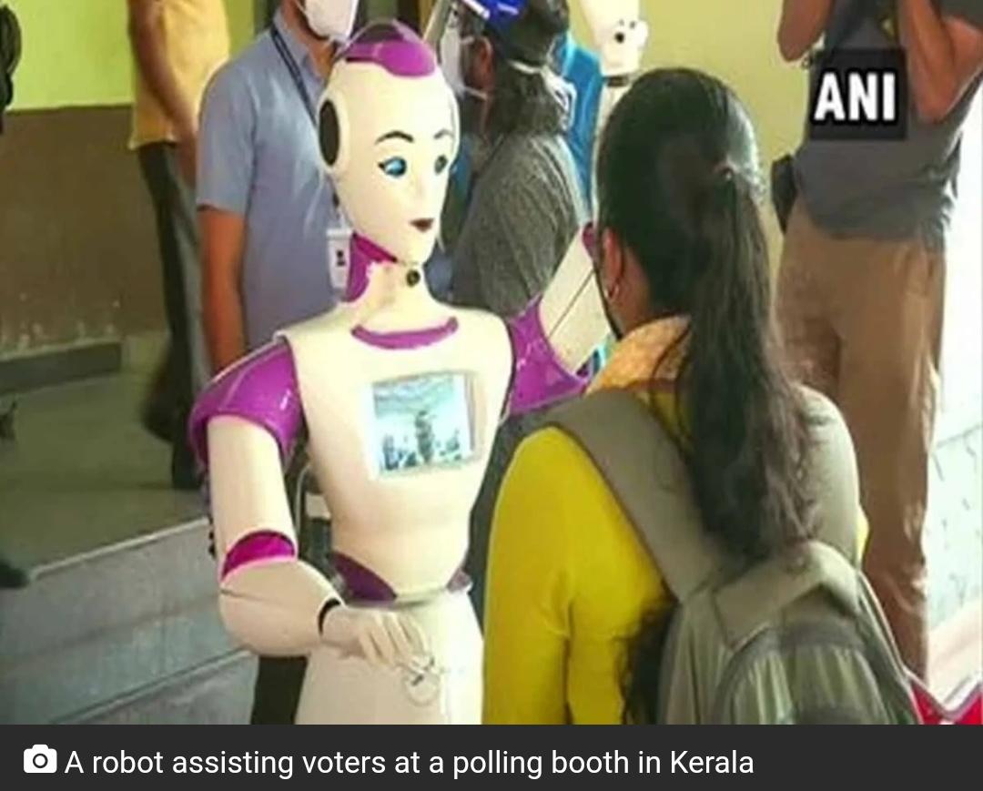 केरल में मतदान केंद्र पर रोबोट करेंगे मतदाताओं की मदद! 8