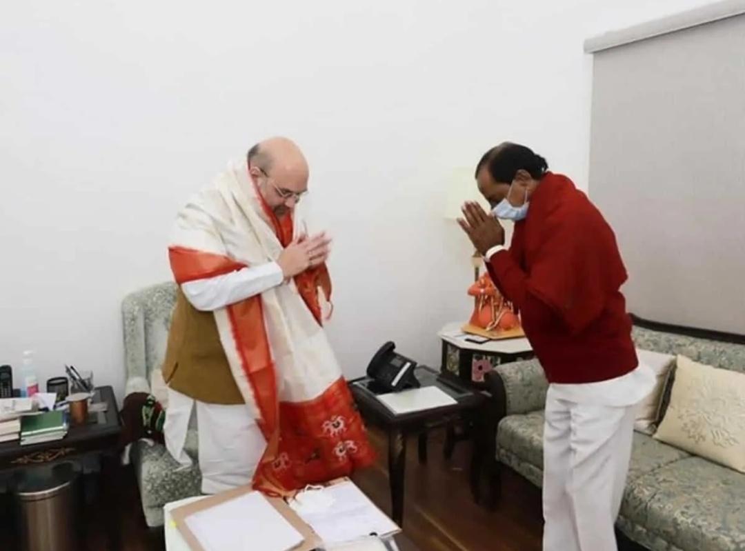 तेलंगाना के सीएम चन्द्रशेखर राव ने की गृहमंत्री अमित शाह से मुलाकात! 5