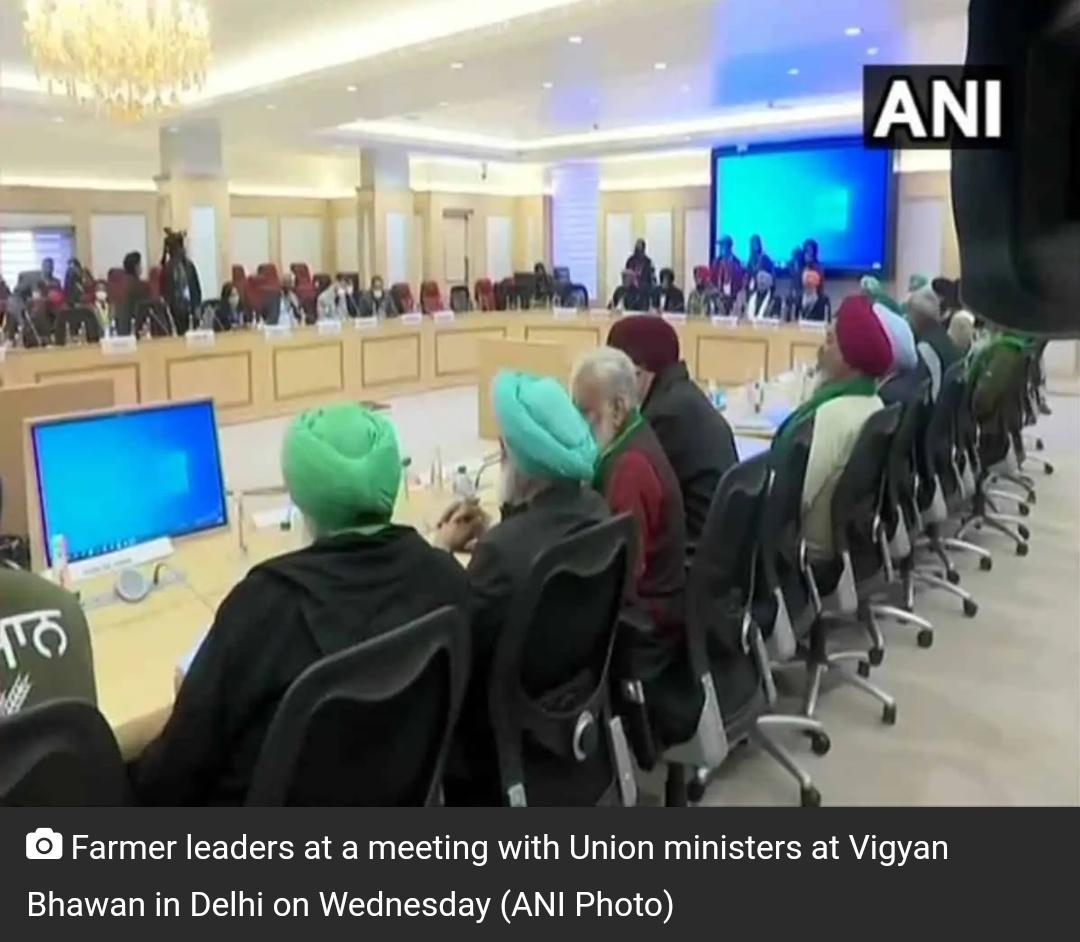 किसानों और सरकार के बीच बातचीत जारी! 1