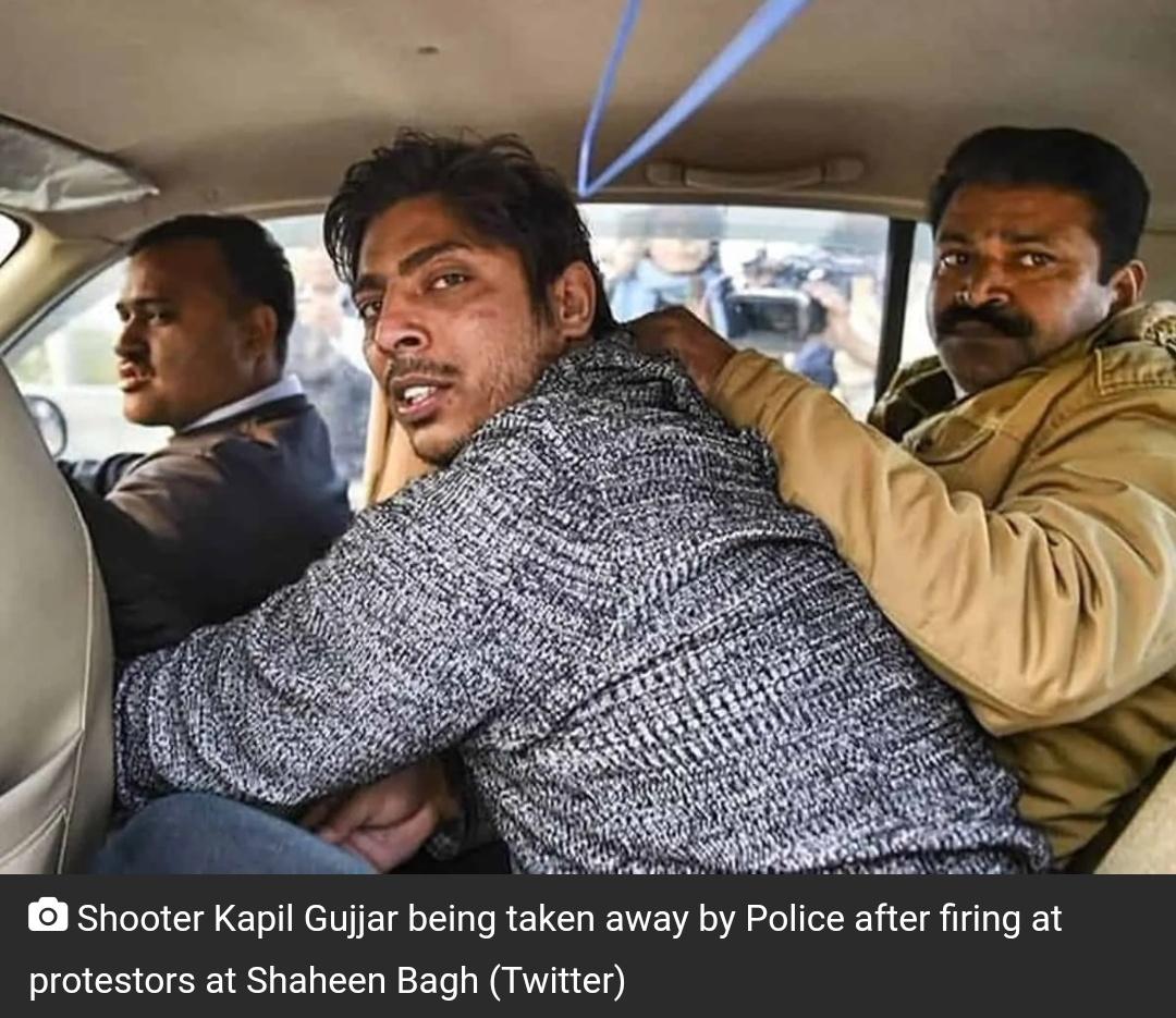शाहिन बाग में गोली चलाने वाले कपिल गुज्जर बीजेपी में शामिल होने के कुछ देर ही बाद पार्टी ने निकाला! 5