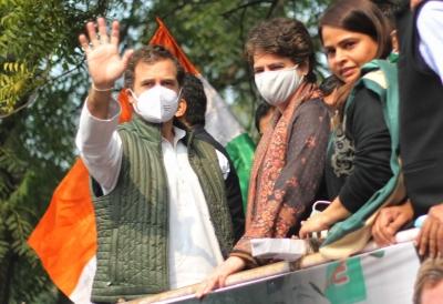 प्रियंका गांधी ने कांग्रेस सांसदों के लिए प्रदर्शन स्थल पर भेजा घर का खाना
