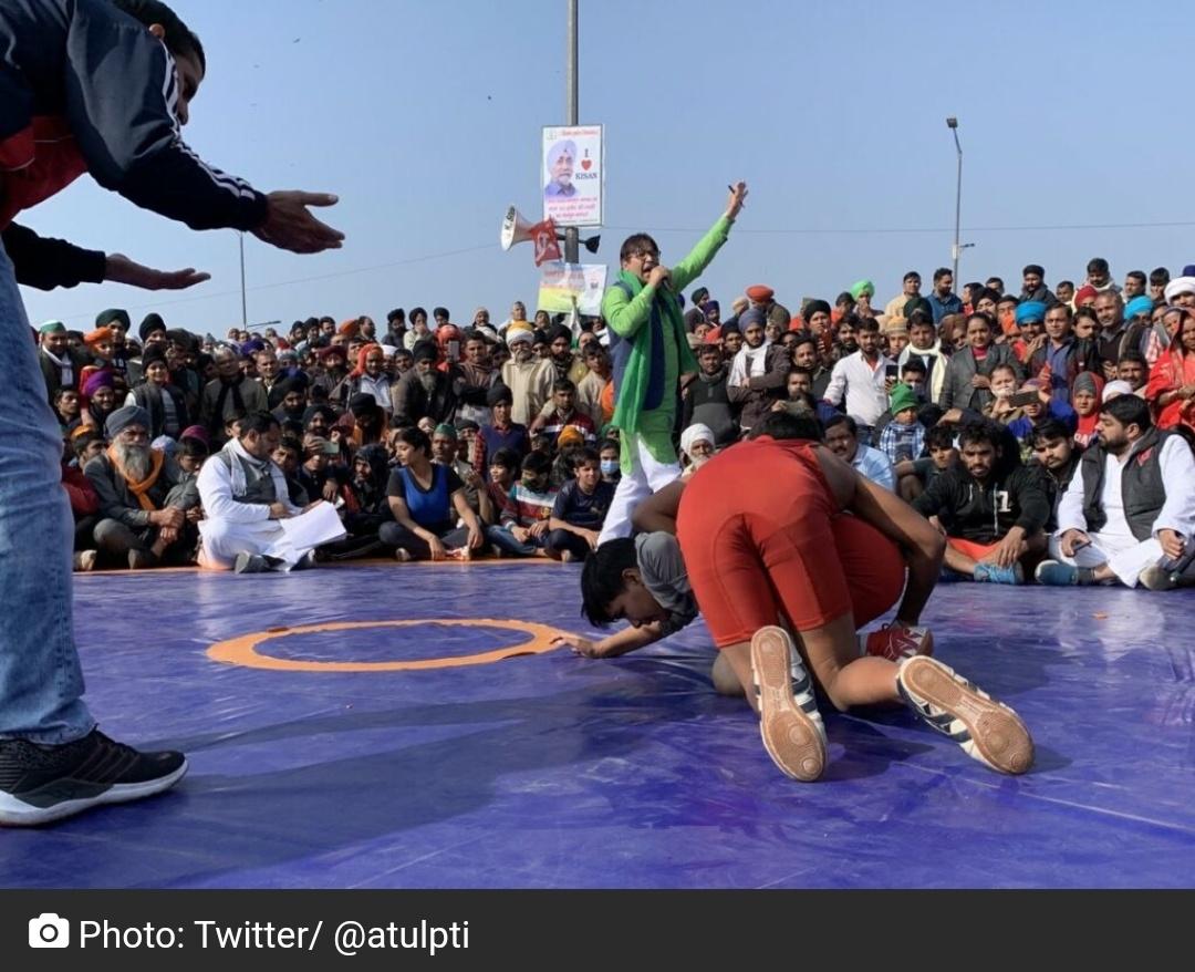 गाजीपुर में कुश्ती प्रतियोगिता के जरिए किसानों को समर्थन! 11