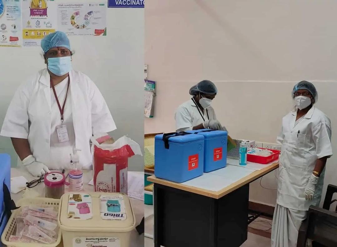 तेलंगाना: स्वास्थ्य कर्मचारियों के लिए बड़ा दिन क्योंकि उन्हें COVID-19 वैक्सीन दिए जायेंगे! 8