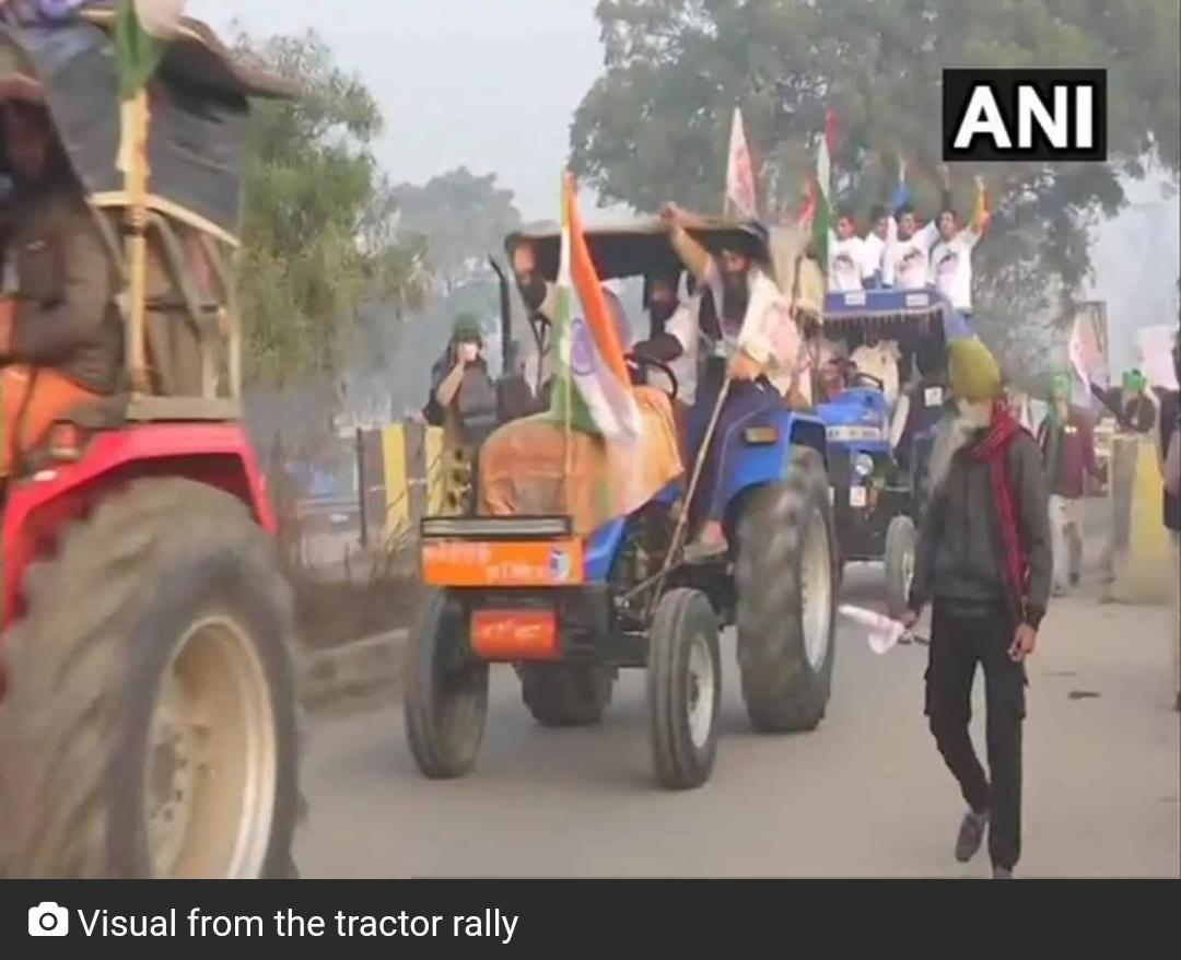 सिंघू बॉर्डर से दिल्ली में किसानों ने किया प्रवेश! 7