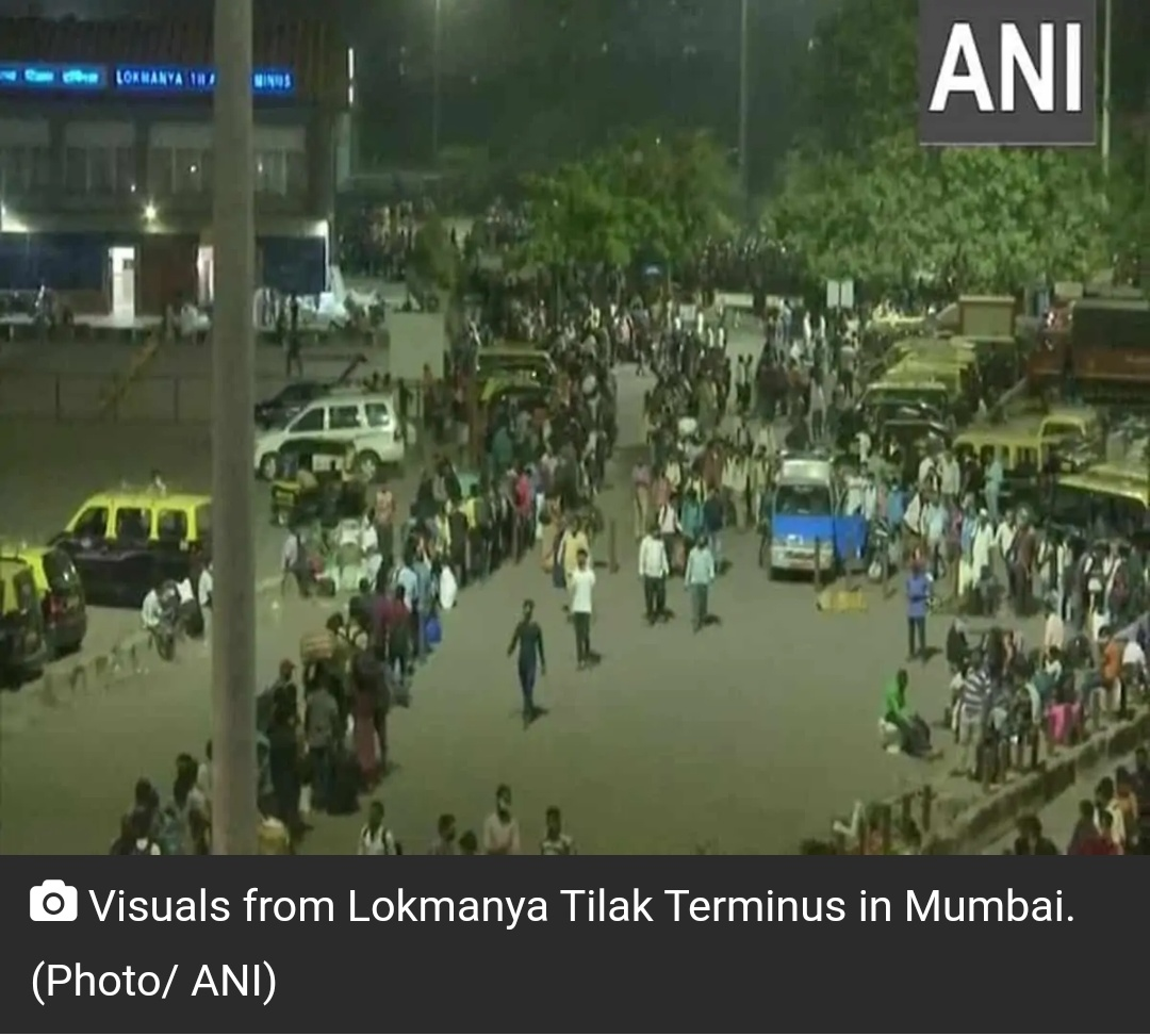 महाराष्ट्र में लगाया गया कर्फ्यू, प्रवासी कामगार राज्य छोड़कर जाने लगे! 4