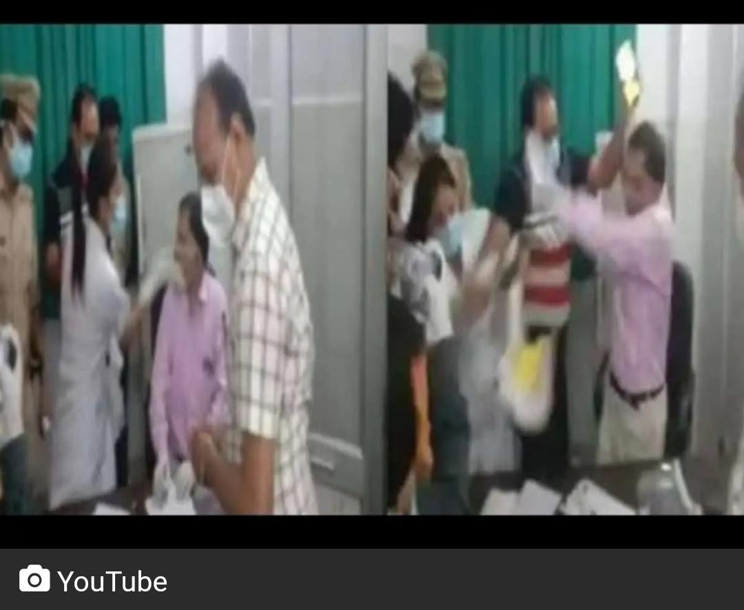 रामपुर जिला अस्पताल में डॉक्टर, नर्स ने एक दूसरे को जड़ा थप्पड़! 2