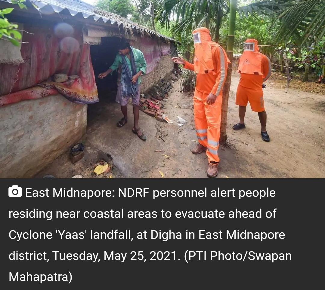 चक्रवात यास: पश्चिम बंगाल में 11.5 लाख से अधिक लोगों को निकाला गया 20