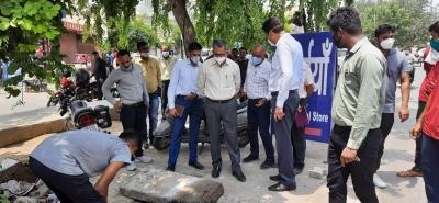 गुरुग्राम नगर आयुक्त ने किया मानसून से पहले क्षेत्रों का निरीक्षण
