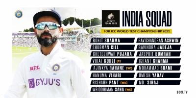 डब्ल्यूटीसी फाइनल के लिए 15 सदस्यीय भारतीय क्रिकेट टीम का ऐलान (लीड-1)