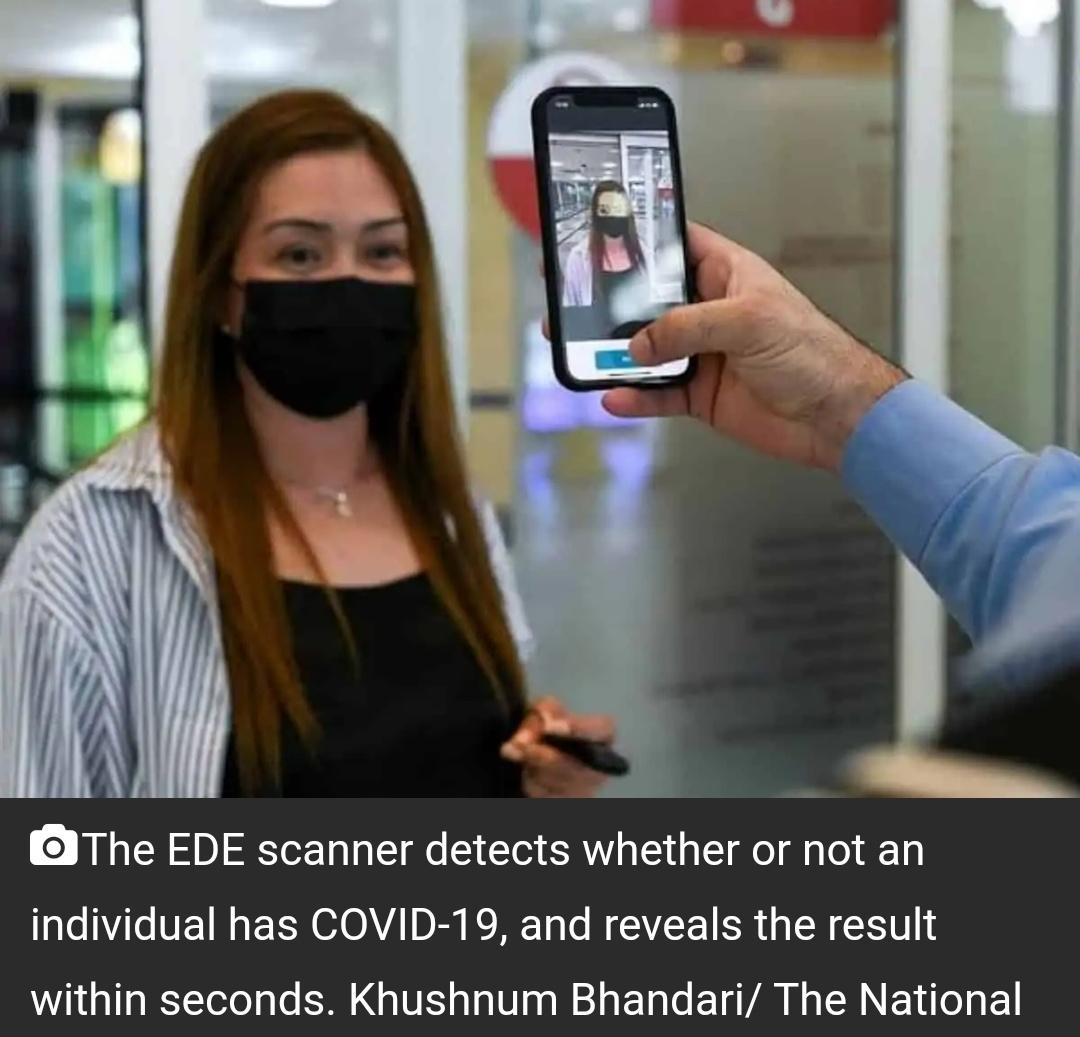 अबू धाबी ने COVID-19 का पता लगाने के लिए EDE स्कैनर लॉन्च किया 8