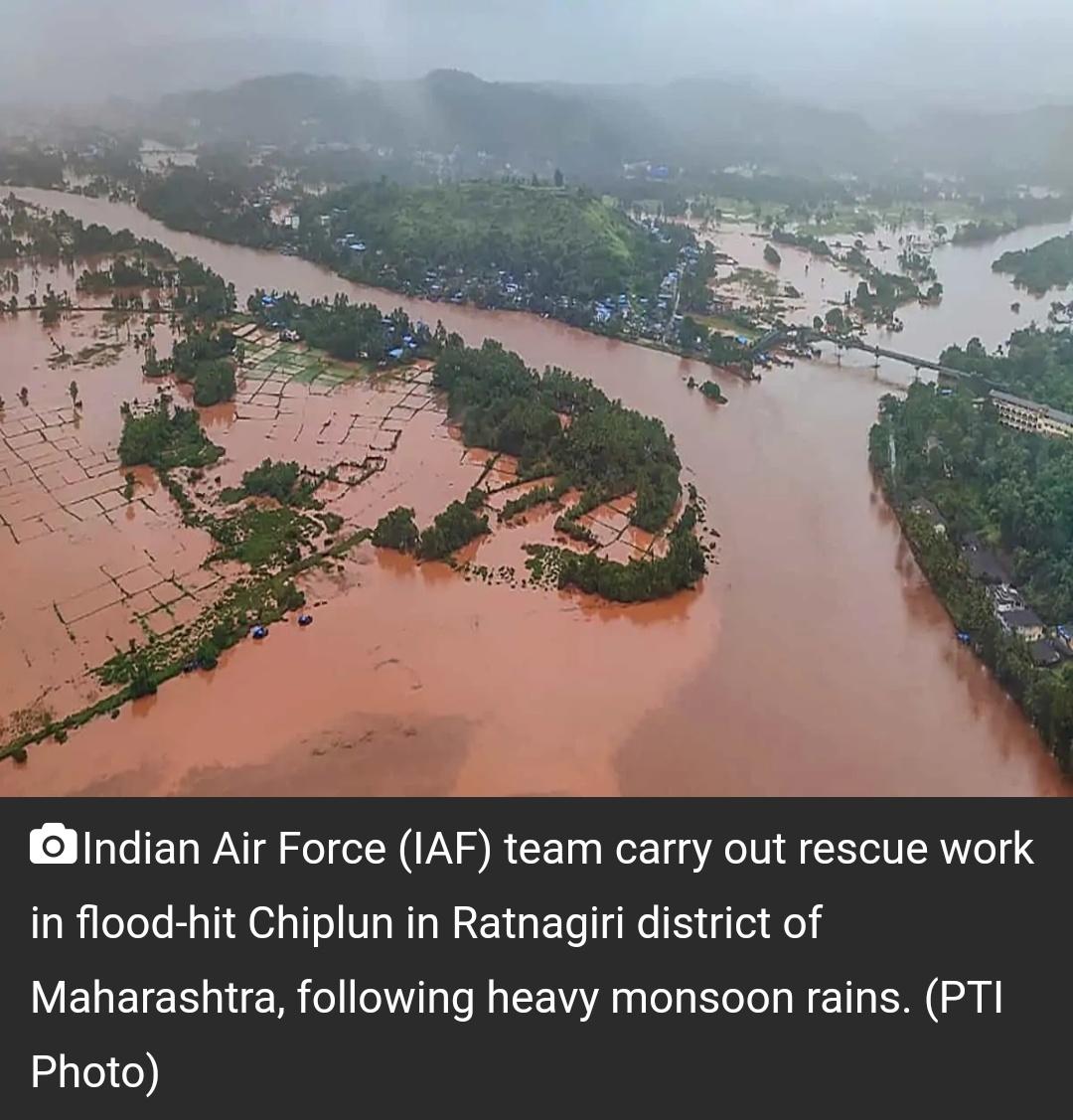 महाराष्ट्र बाढ़ में 76 मरे, 30 लापता; प्रभावित इलाकों का दौरा करेंगे सीएम 5