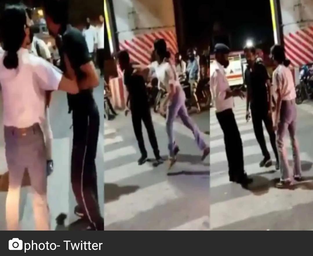 यूपी की महिला ने बीच सड़क पर कैब ड्राइवर को पीटा; वीडियो वायरल 1