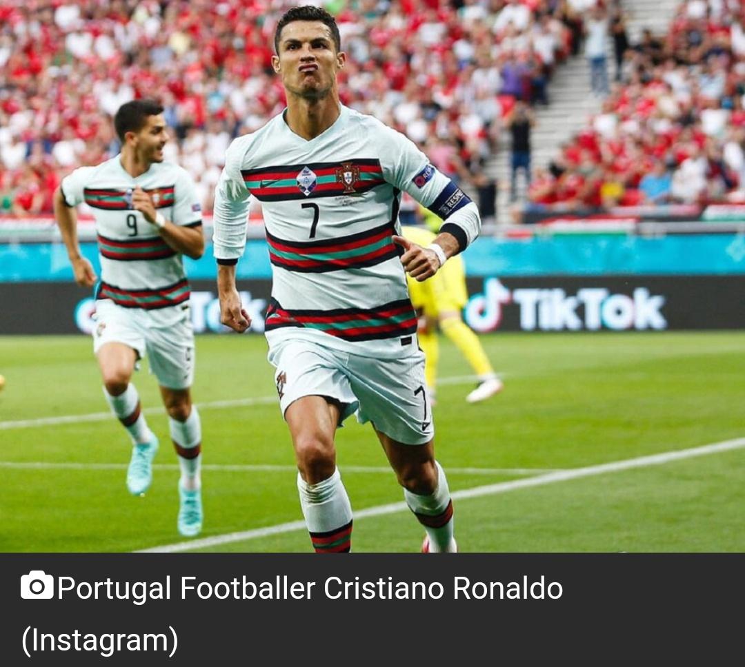 क्रिस्टियानो रोनाल्डो ने पुरुषों के अंतरराष्ट्रीय फुटबॉल में सर्वाधिक गोल करने का रिकॉर्ड तोड़ा 9