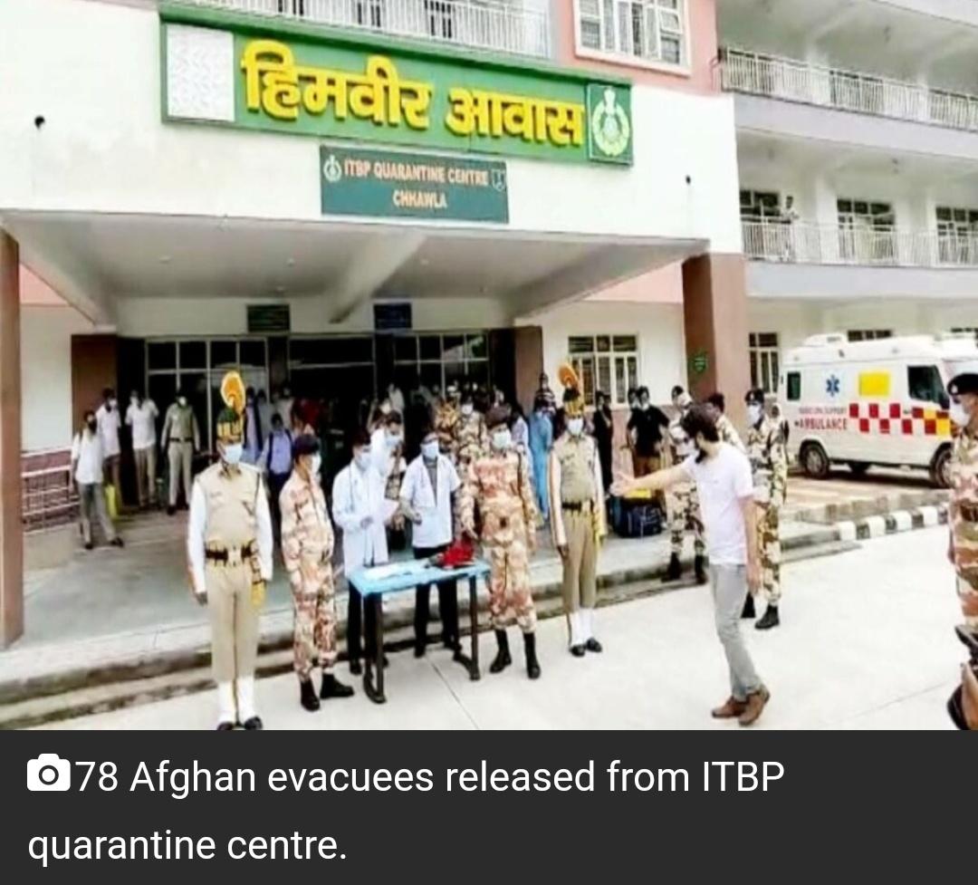 दिल्ली के ITBP क्वारंटाइन सेंटर से 78 अफगान लोगों को निकाला गया 11