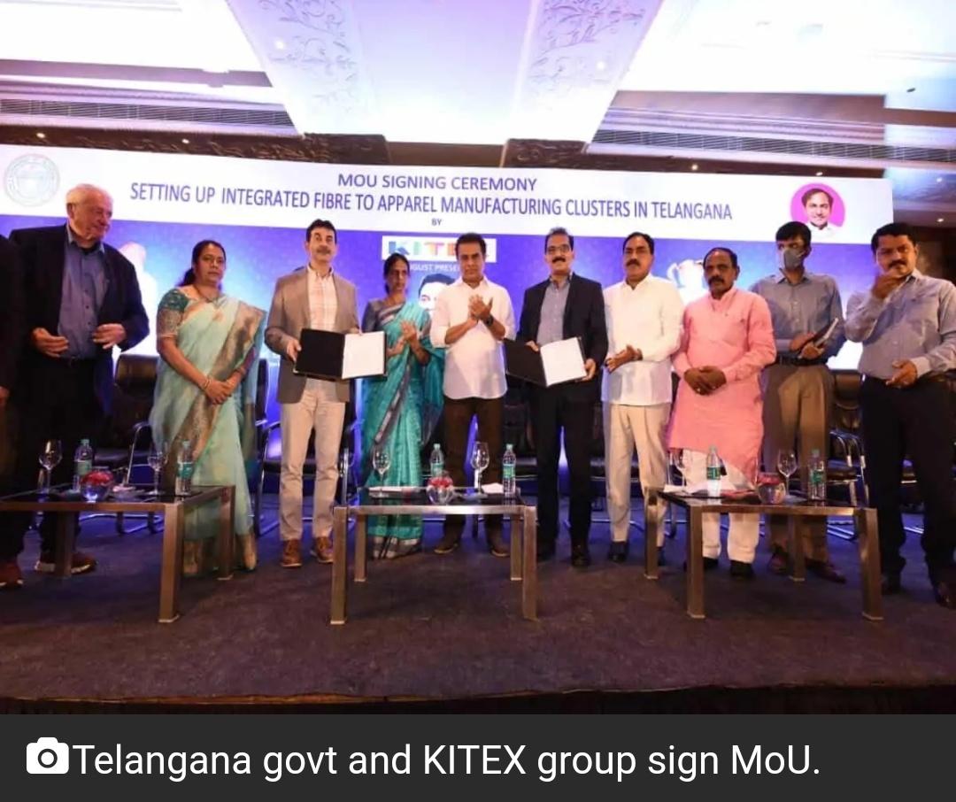 तेलंगाना सरकार, KITEX समूह ने MoU पर हस्ताक्षर किए; 22 हजार लोगों को मिलेगी नौकरी 15