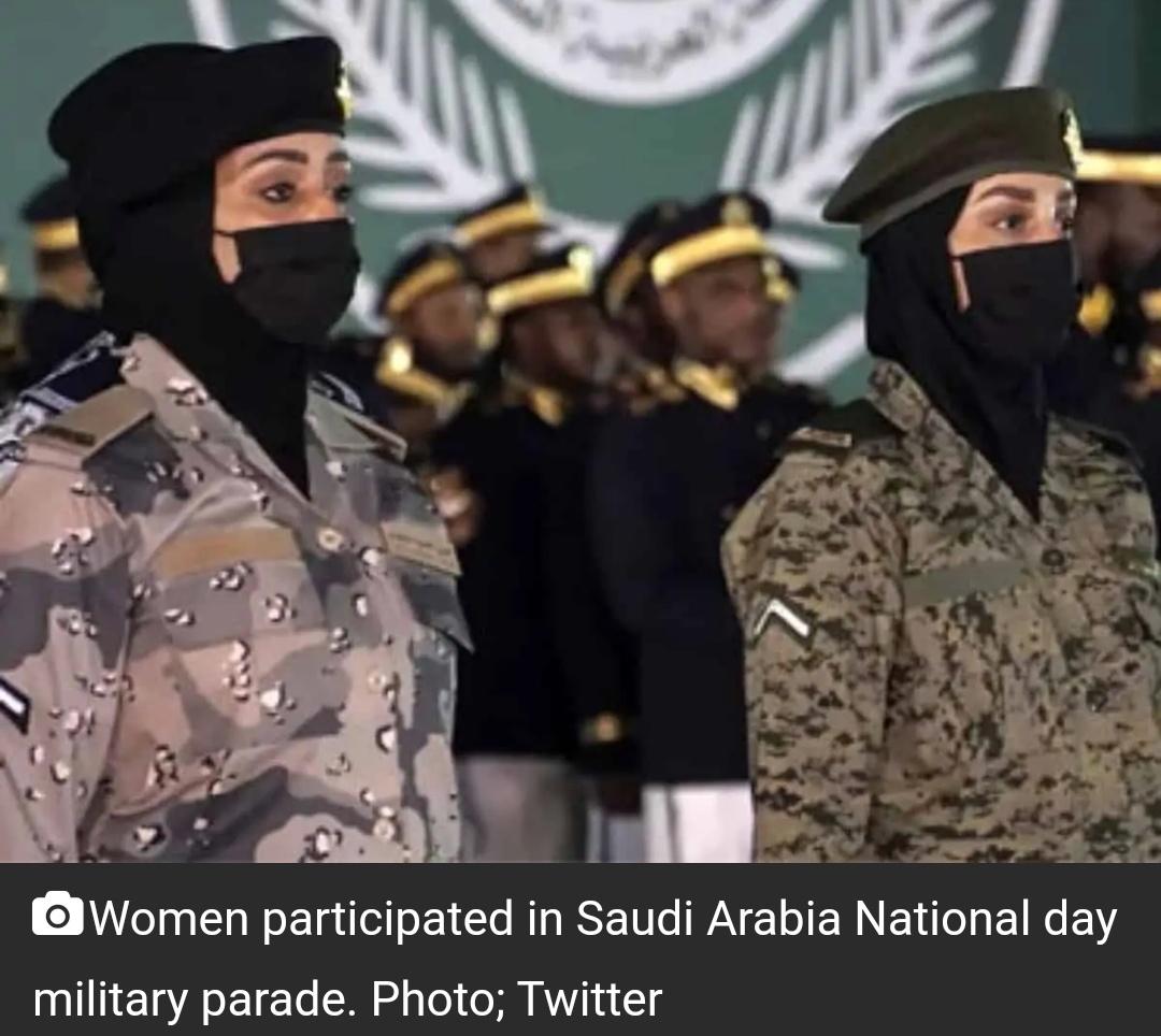 सऊदी अरब का राष्ट्रीय दिवस: पहली बार महिलाओं ने सैन्य परेड में हिस्सा लिया 13
