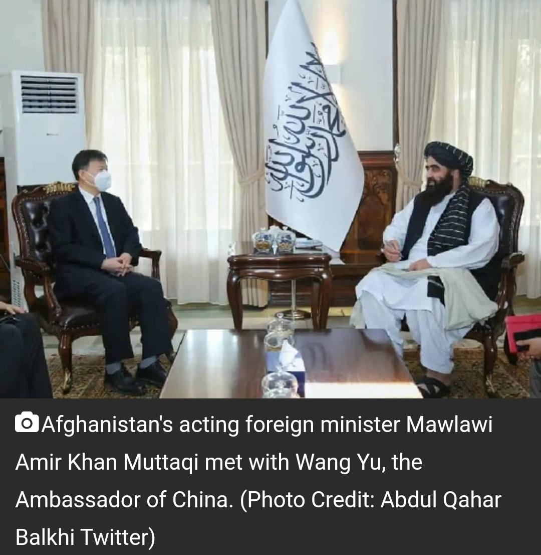 अफगानिस्तान के कार्यवाहक विदेश मंत्री ने चीनी दूत से मुलाकात की 6