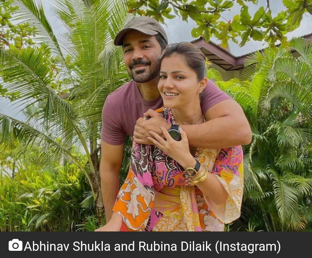 रुबीना दिलाइक ने अपने 'सज्जन' अभिनव शुक्ला को जन्मदिन की बधाई दी 3