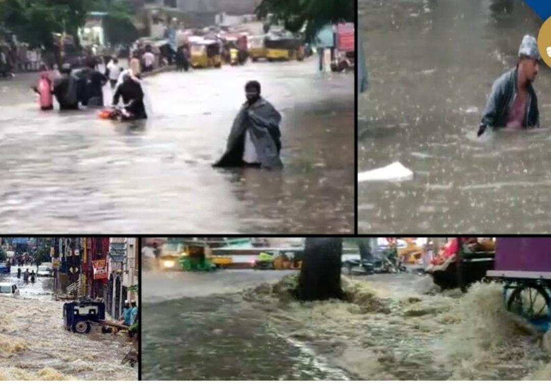 हैदराबाद: बादल फटने से शहर के कई हिस्से जलमग्न 11