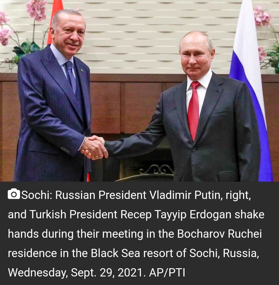 युद्धग्रस्त सीरिया पर वार्ता के लिए बैठे पुतिन, एर्दोगन! 17
